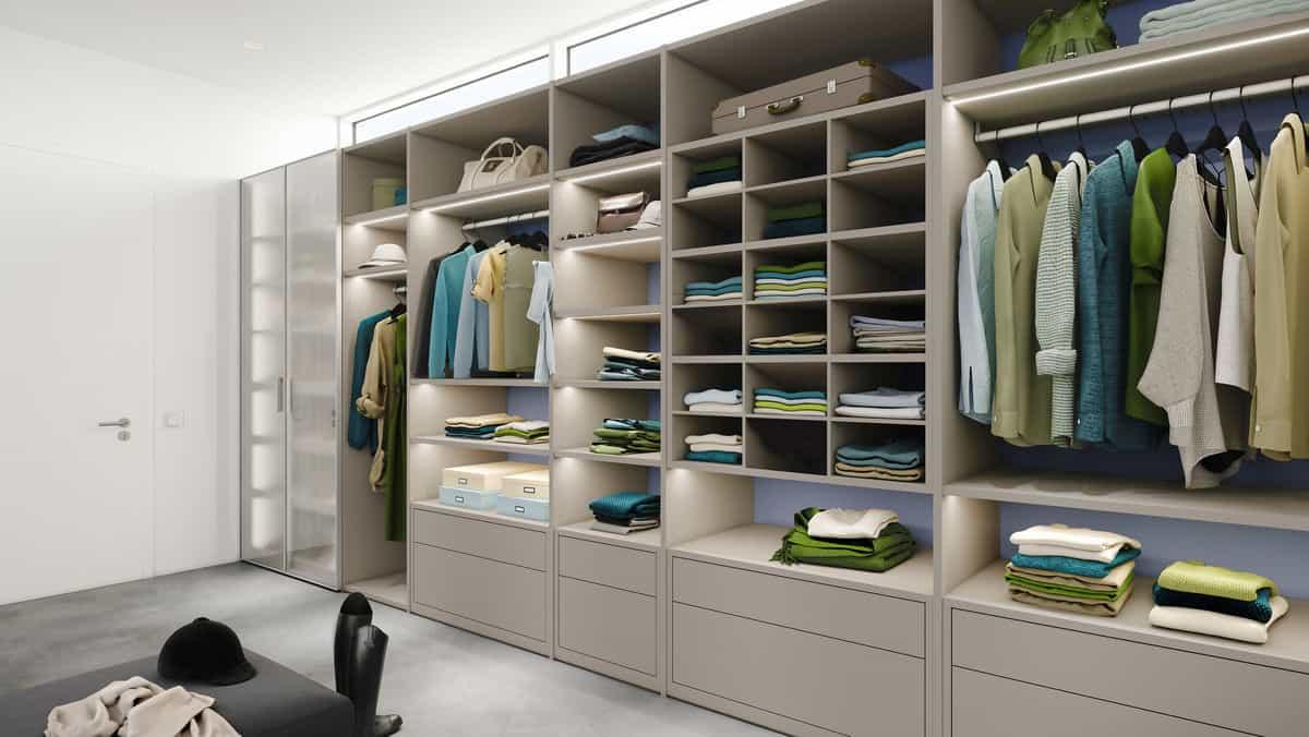 open cupboard interior design