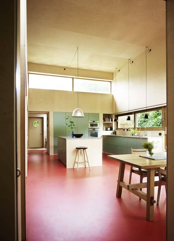 red oxide flooring for kitchen