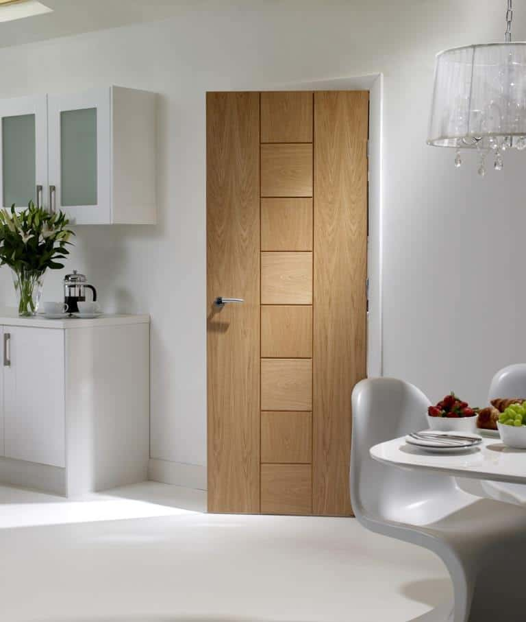 Modern oak panel door design