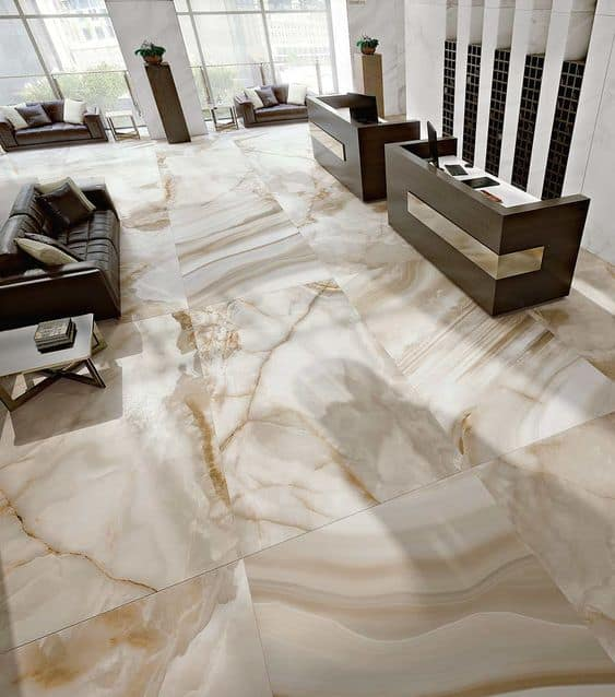 textured vitrified tile for hall