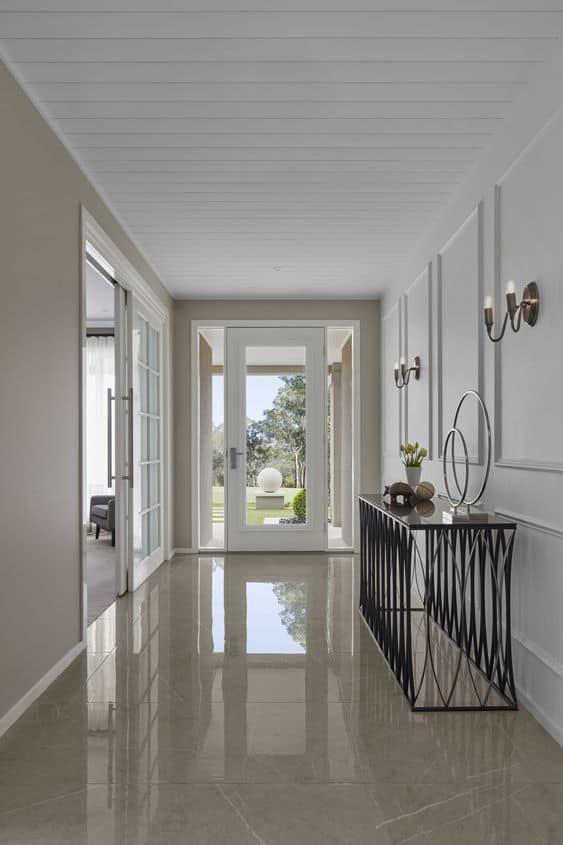 plain vitrified flooring tiles for hallway