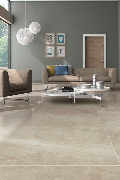 light shade vitrified tiles for living room with same colour sofa and grey walls