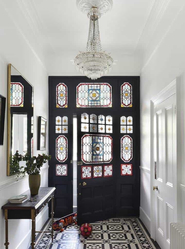 Victorian door designs with stained glass patterns