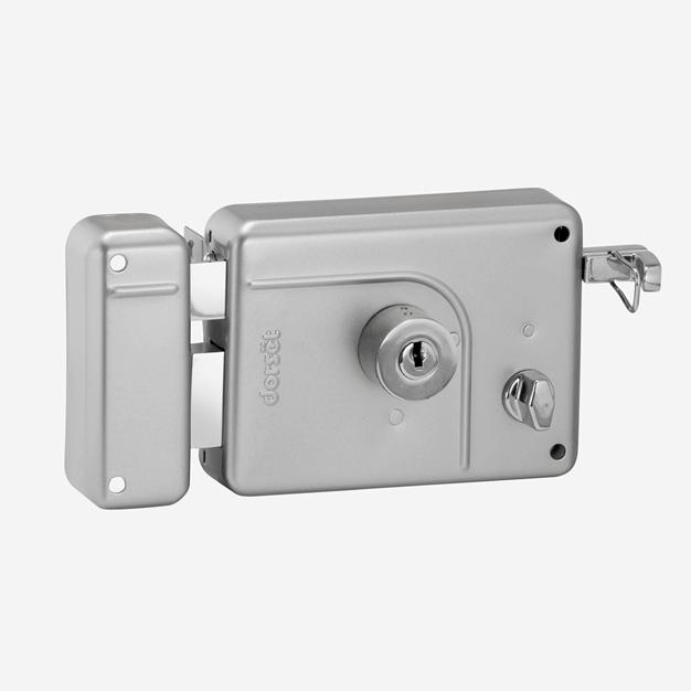 rim lock with key and knob