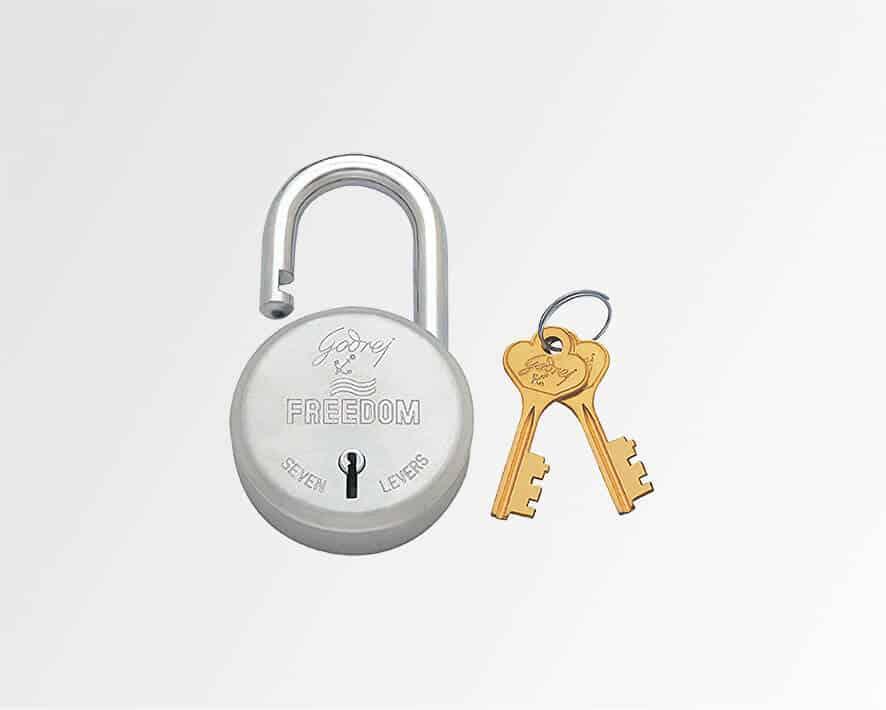 keyed padlock, godrej locks