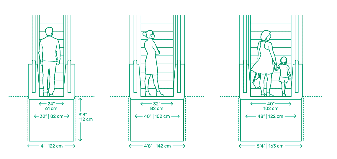 moving walkway width and dimensions