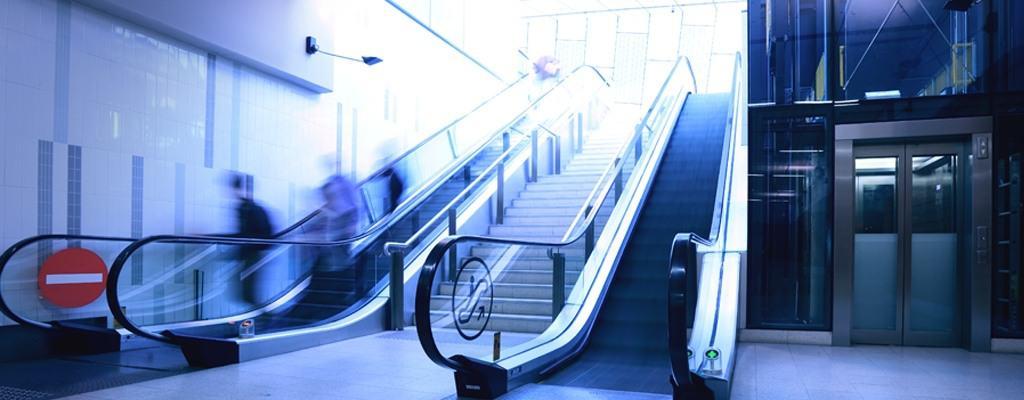 Escalator and elavator
