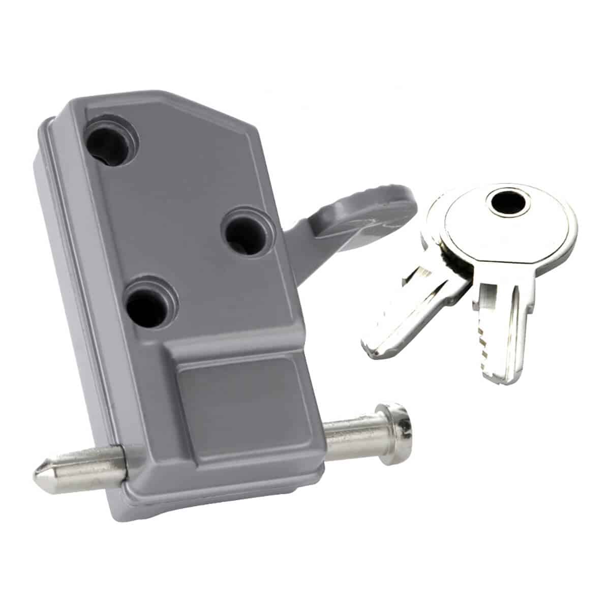 patio door locks with keys that can replace a traditional padlock