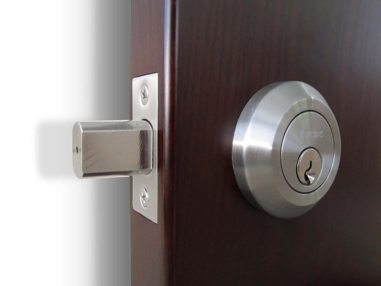 silver deadbolt padlock