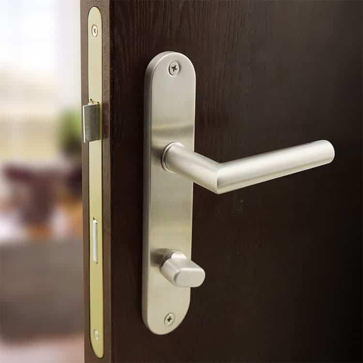 door handle with backplate