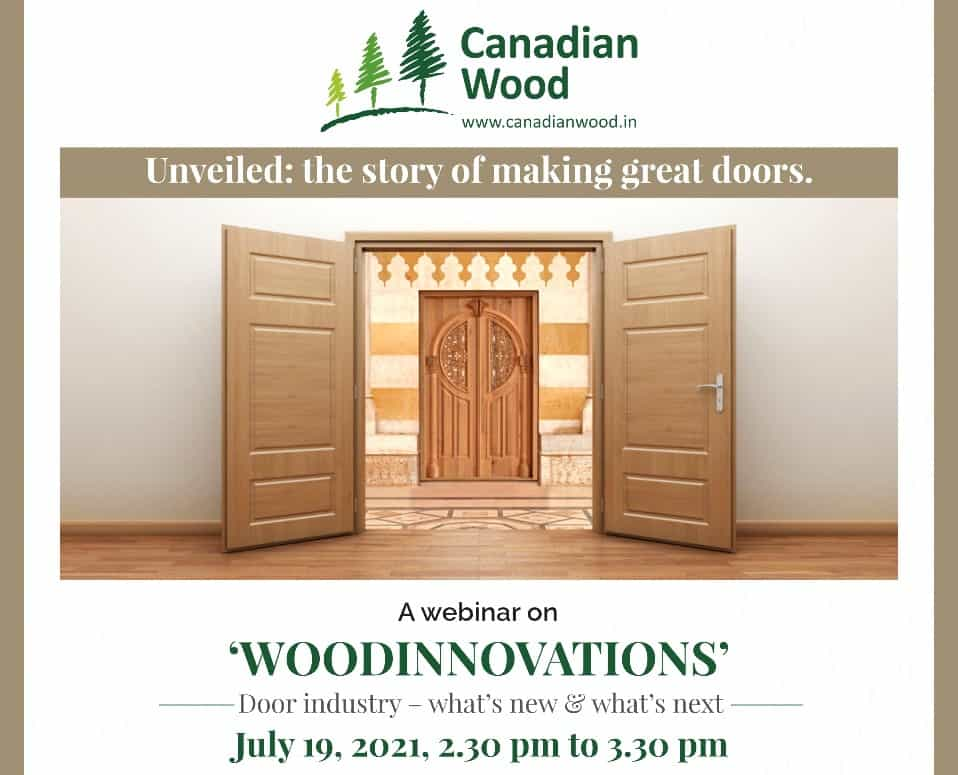 Canadian wood webinar 'WOODINNOVATIONS door industry - what's new, what's next?'