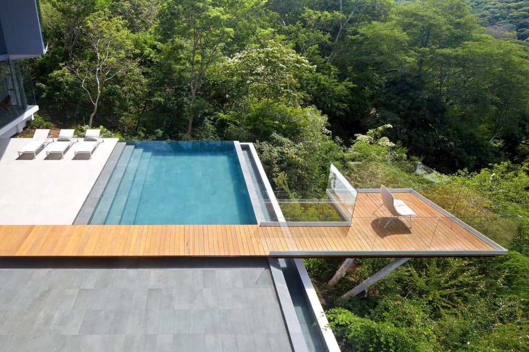 top view of a house surrounded by trees