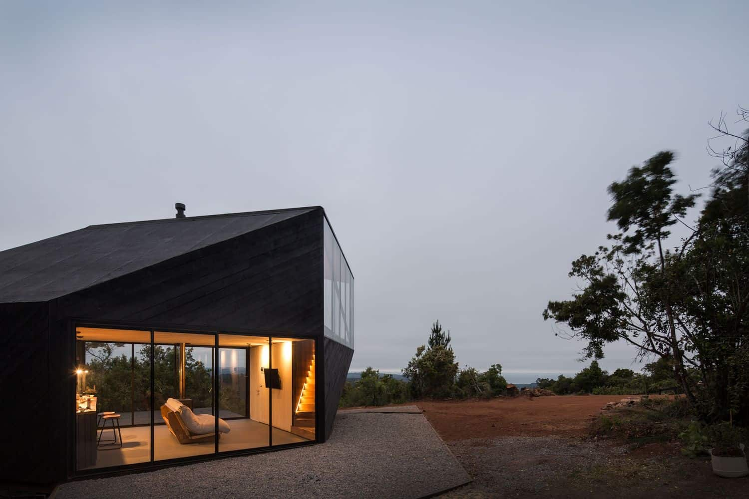modern home designs, house design with black exterior, two-blocked house