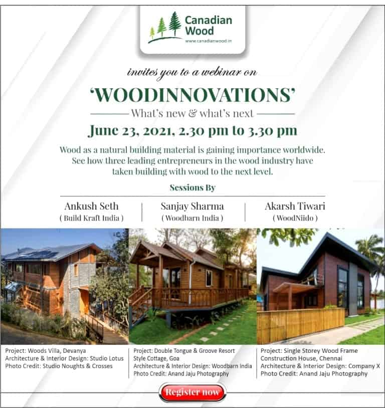 Canadian Wood's upcoming webinar on 'WOODINNOVATIONS - what's new, what's next?' Register now for the latest in wood industry applications!