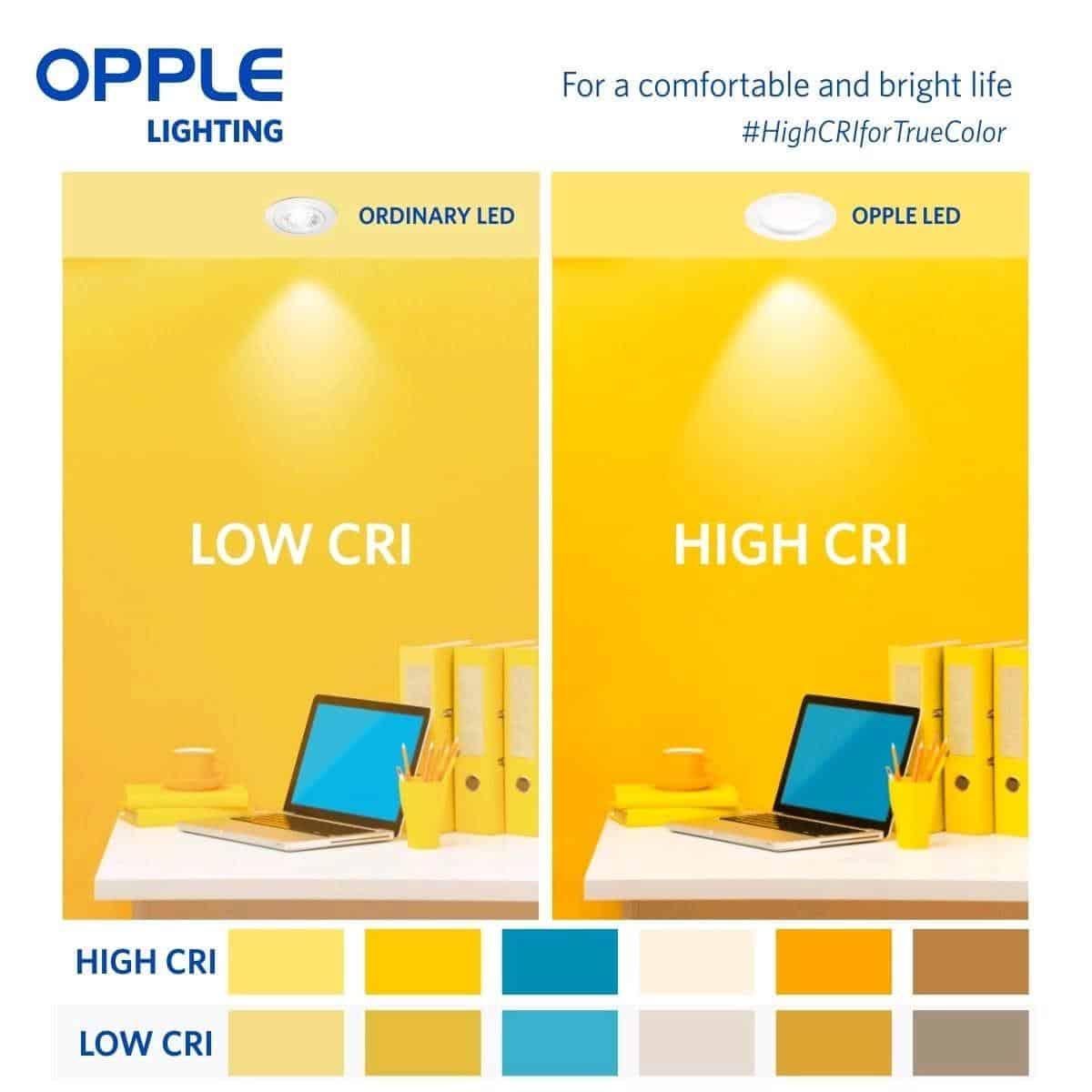 opple lighting for coloured luminaire