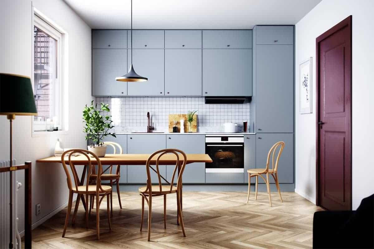 Single row galley kitchen