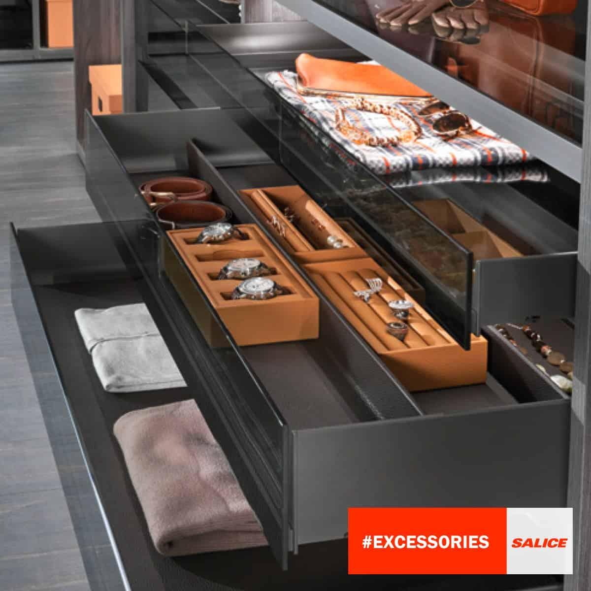 Salice premium sliding modular wardrobe fitting; building materials industry