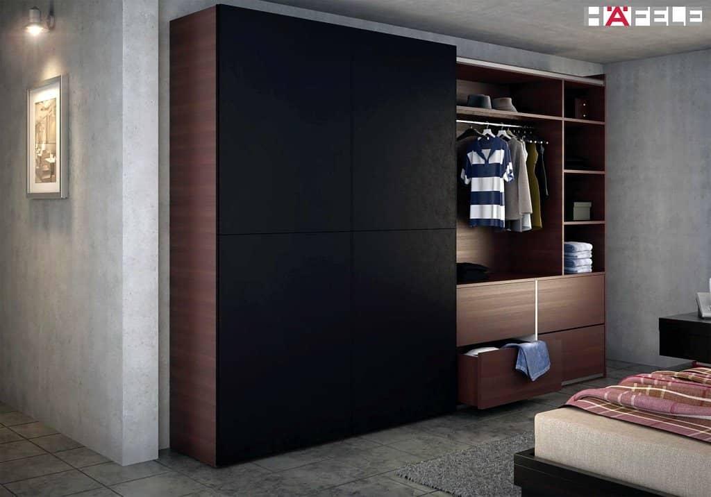 Hafele sliding wardrobe door solution