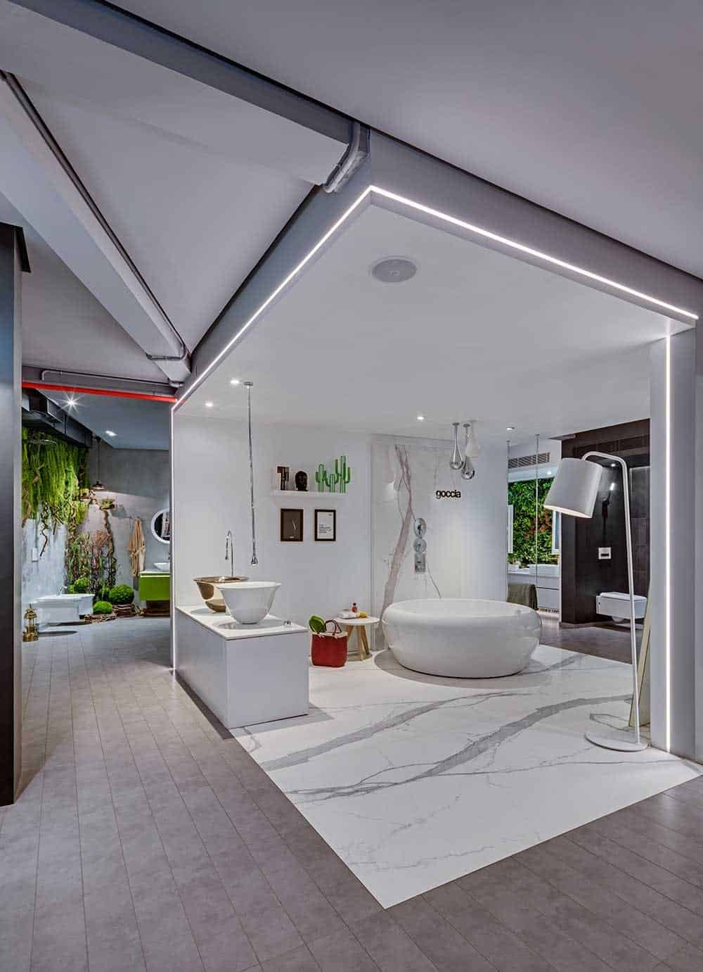 ABC Emporio interior display of bathroom fitting and accessories