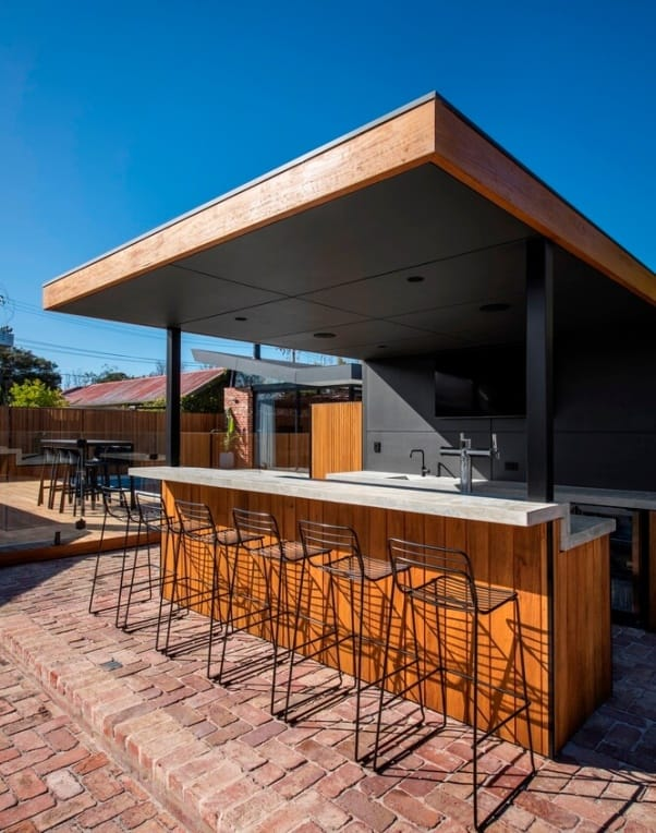outdoors seating area in a home