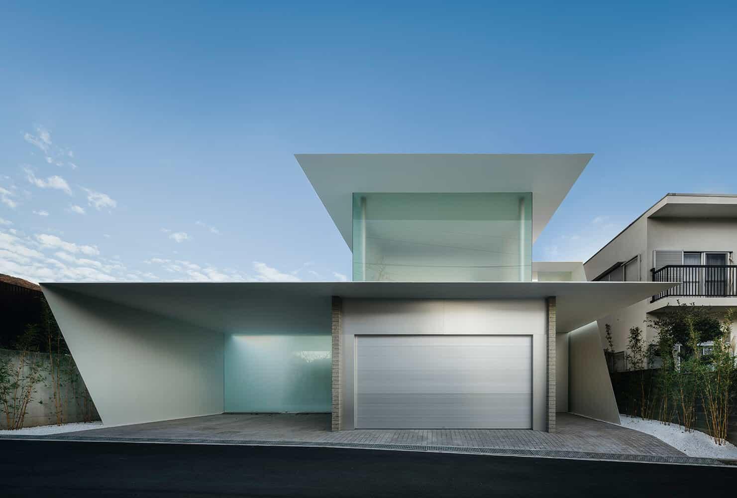 modern home design front elevation in grey color