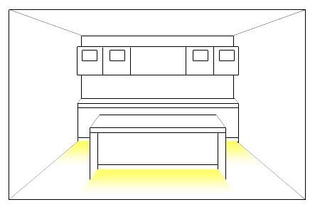 Kitchen floor lighting