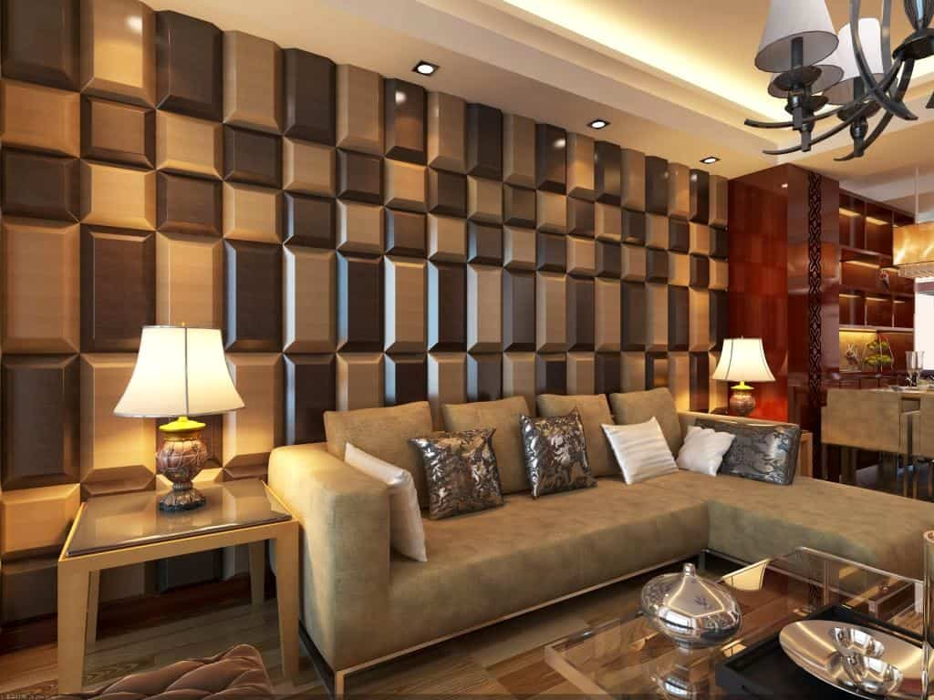 dark and light brown 3d wall for living room