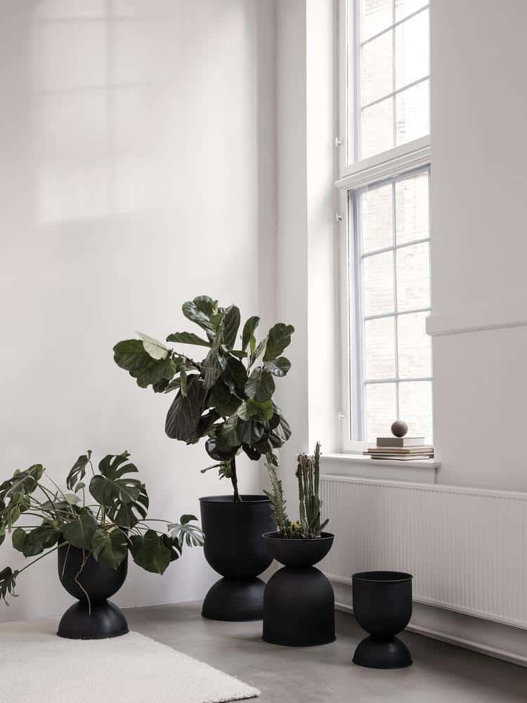 Hourglass Indoor Plant Pot by Burke Decor suitable for bonsai