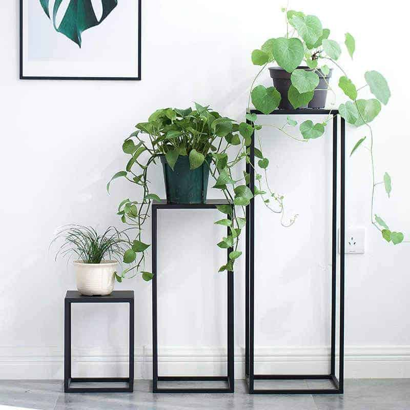 Modern and minimalist planter stand suitable for bonsai