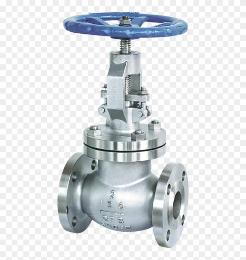 stainless steel globe valve with blue lever