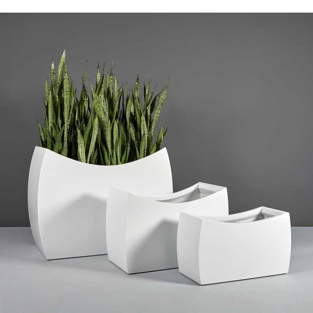 Seoul modern fiberglass planters by Jay Scotts suitable for bonsai