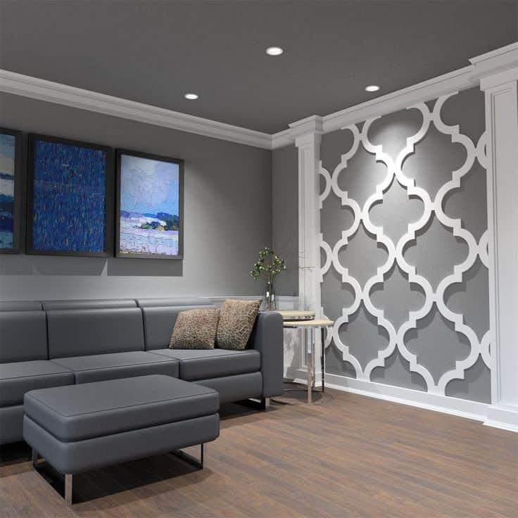 white patterned PVC panels