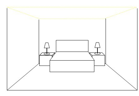 bedroom design lighting layout plan