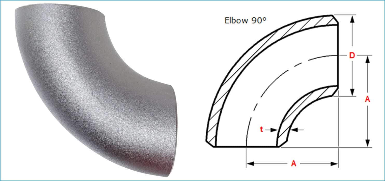 pipe fittings, 90 degree elbow fitting for pipelines