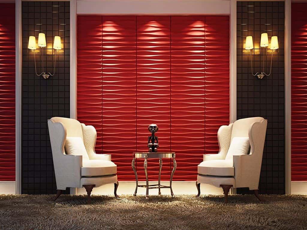 red PVC paneling