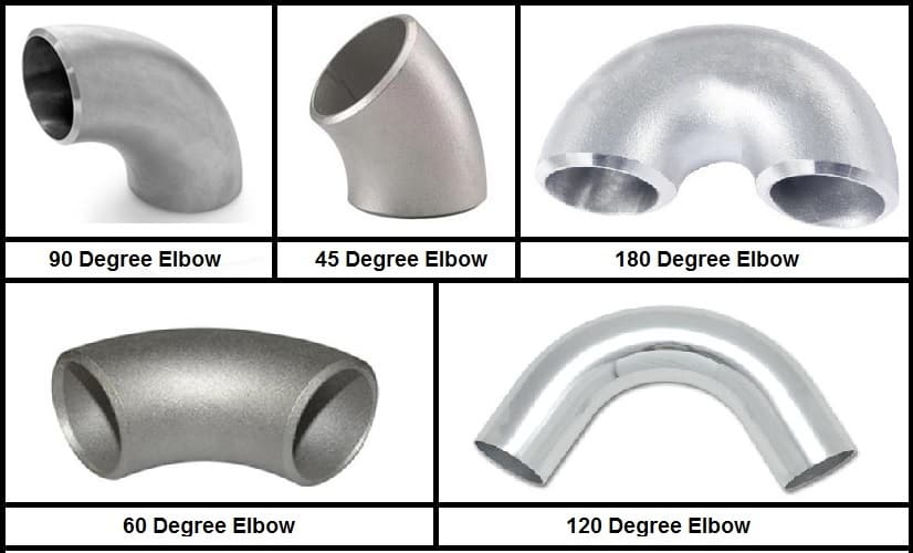 different types of elbow fittings for pipes
