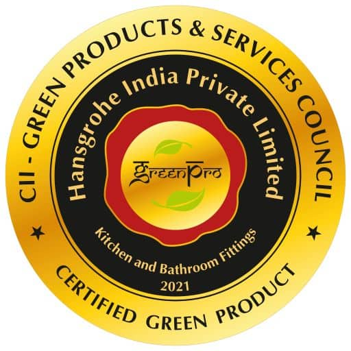 Hansgrohe Greenpro Ecolabel certification by green products & services council logo