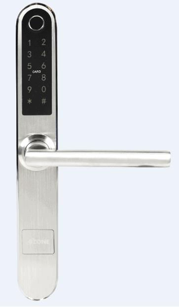 ozone smart lock in silver colour