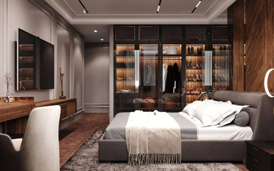 bedroom design with wardrobe