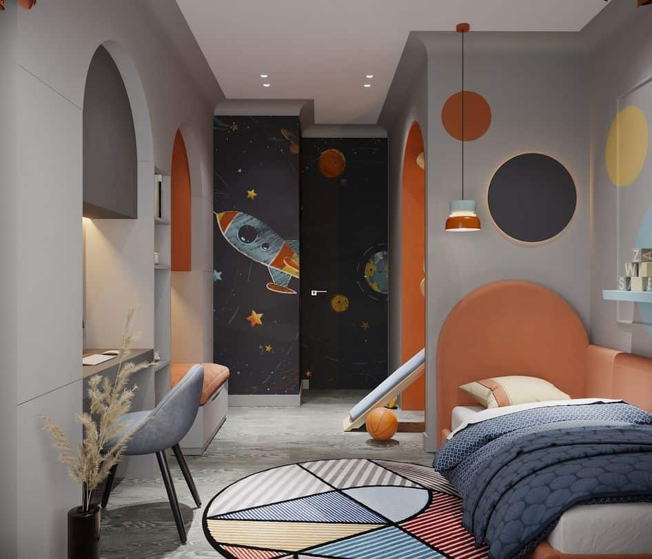creative and olorful kids room