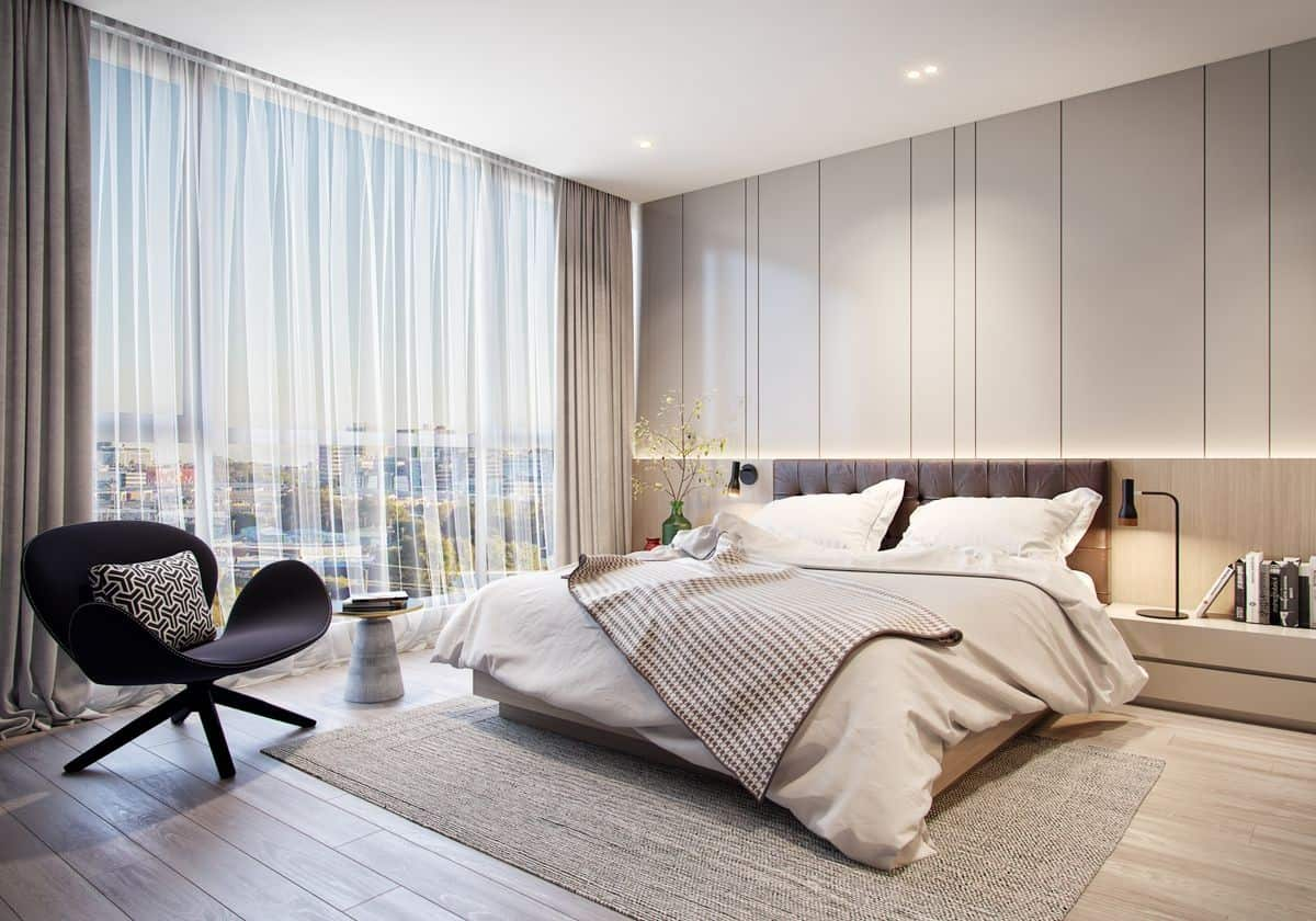 A classic as well as traditional white bedroom design; bedroom wall tiles
