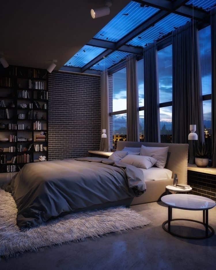 bedroom wall tiles in a modern bedroom design; bedroom false ceiling design