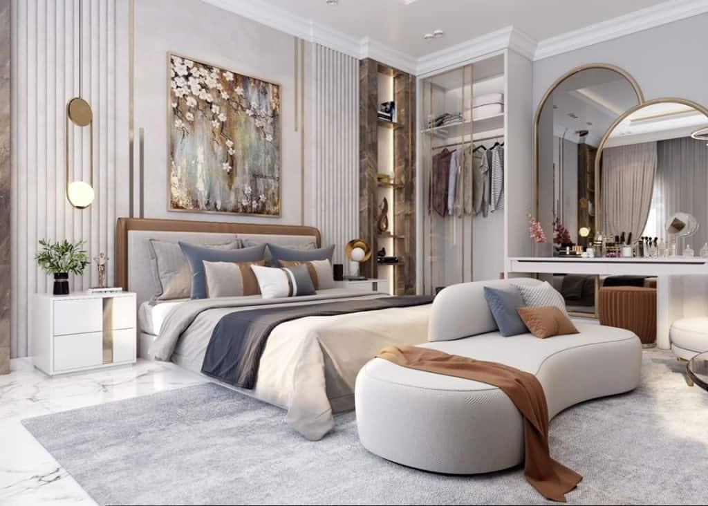 luxury modern bedroom layout