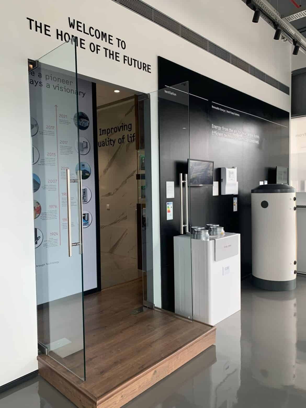 stiebel eltron display centre with green technology and other products