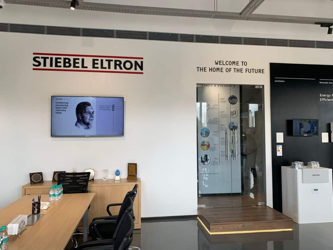 stiebel eltron display centre with products