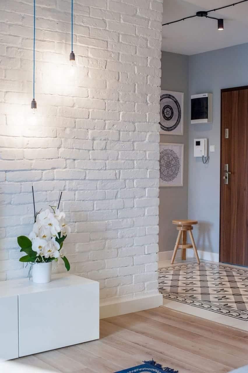 white brick wall design