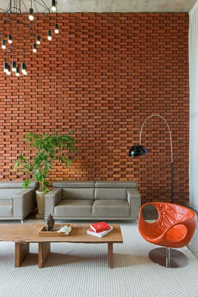brick interior wall design idea