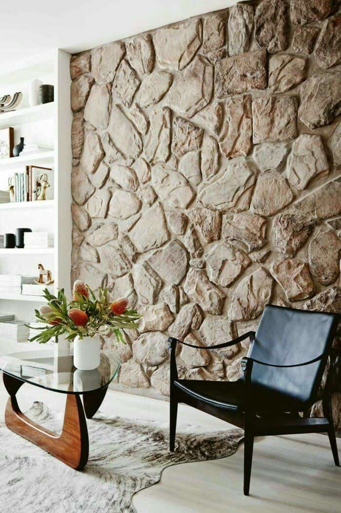 masonry stone wall design in neutral color