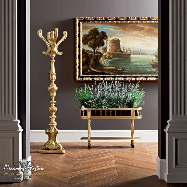 golden wooden planter suitable for bonsai