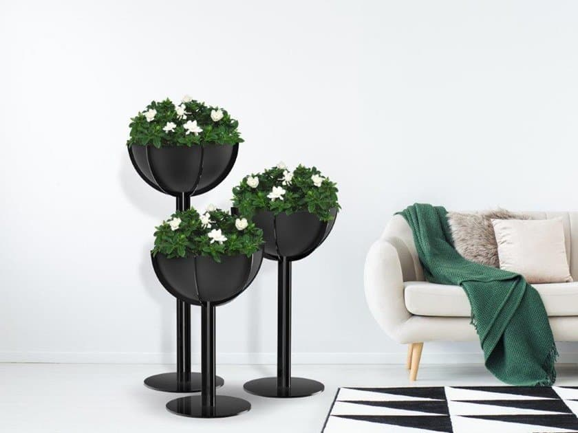 black colored ceramic pot for indoor plant also suitable for bonsai